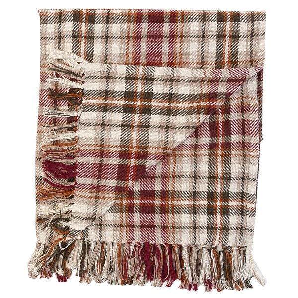 Jenine Plaid 100% Cotton Throw by August Grove